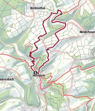 Karte / Traumschleife Mittelalterpfad