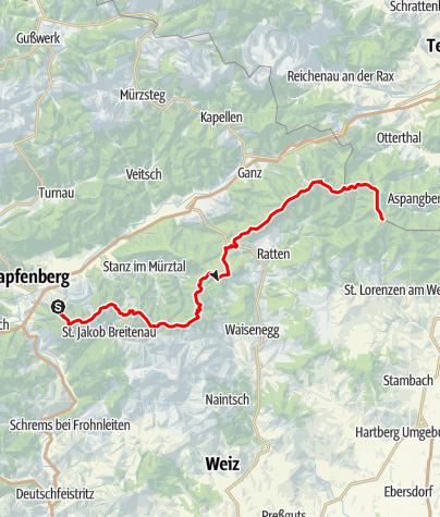 Karte / Fischbacher Alpenüberschreitung
