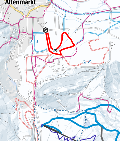 Map / Practicing- Cross country ski track
