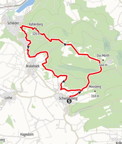 Karte / Naturparktrail Südteil-Schwalenberger Wald und Mörth