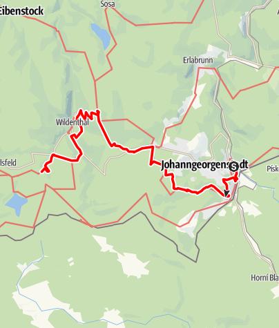 """Map / Kammweg Etappe 11 """"Von Johanngeorgenstadt nach Weitersglashütte"""""""