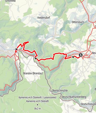 """Karte / Kammweg Etappe 04 """"Von Seiffen nach Olbernhau"""""""