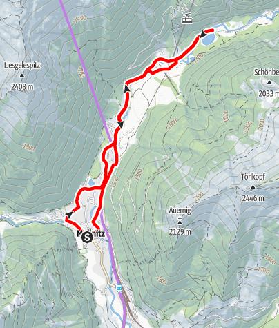 Karte / Radtour Stappitzer See - Raineralm