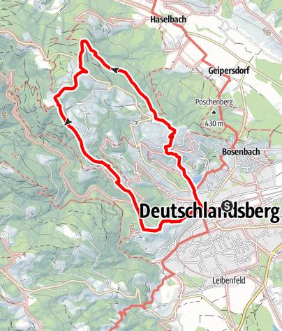 Karte / Schilcherweg - S, Großer Oberlaufenegger Rundweg Variante 2