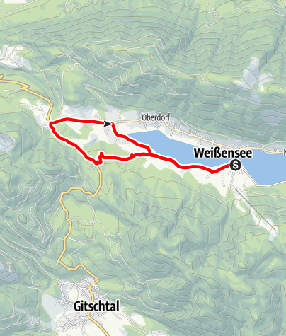 Karte / Wunderbaumrunde-Weissensee