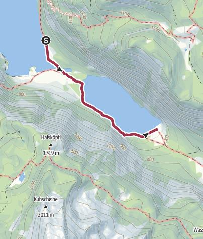 Karte / Wanderung zur Fischunkelalm am Obersee