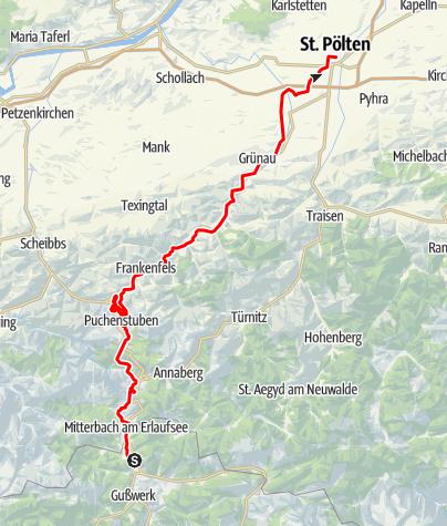 Karte / Mariazellerbahn (Mariazell - St. Pölten)
