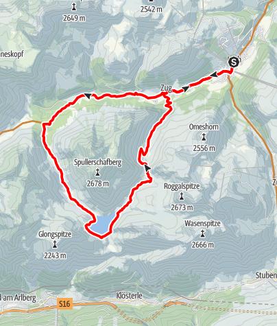Karte / Spullersee-Runde