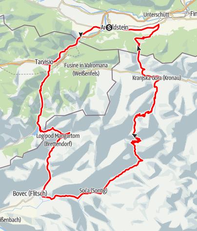 Karte / Drei Länder Tour