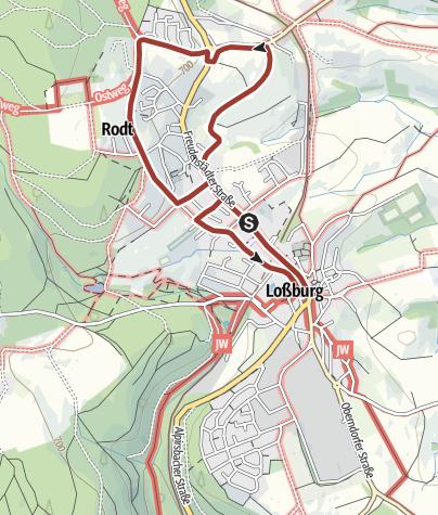 Karte / Loßburger Kunstmeile