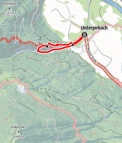 Karte / Pirknerklamm