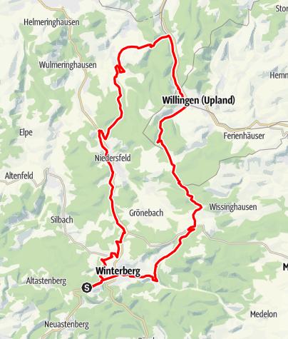 Karte / Bike Arena Sauerland - Zu den Steinen Nr. 2