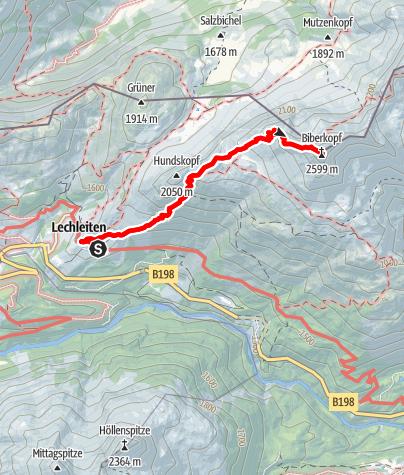 Karte / Biberkopf (2.599 m)