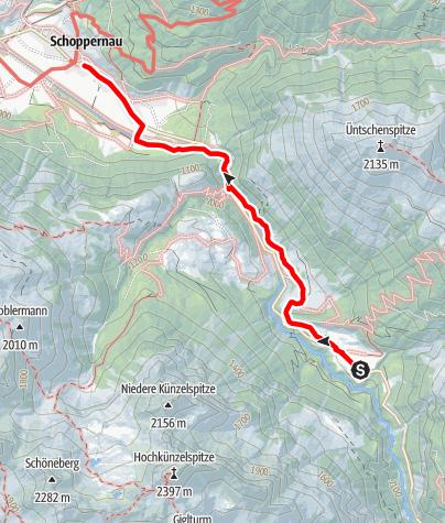 Karte / Au-Schoppernau   Franz Michael Felderweg