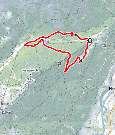 Map / Schlicker-Almen-Runde