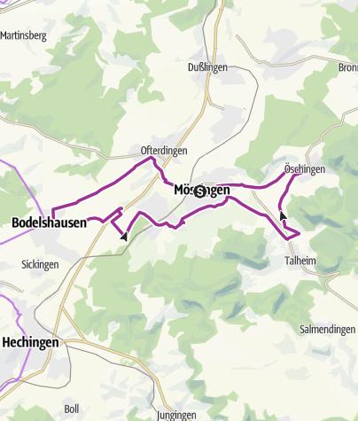 Karte / Streuobst-Tour für Kinder - Familien-Themenradtour im Steinlachtal
