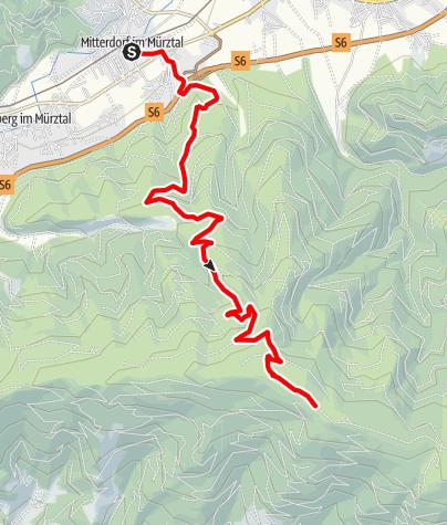 Karte / Mountainbikestrecke auf die Stanglalpe