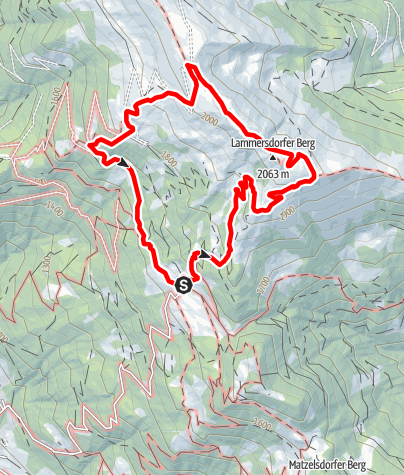 Karte / Enzian-Granat-Steig und Almbrunn´ Steig