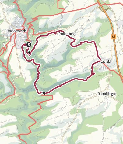 Karte / Vulkaneifel-Pfad: Grafschaft-Pfad (Rundtour) (Manderscheid)