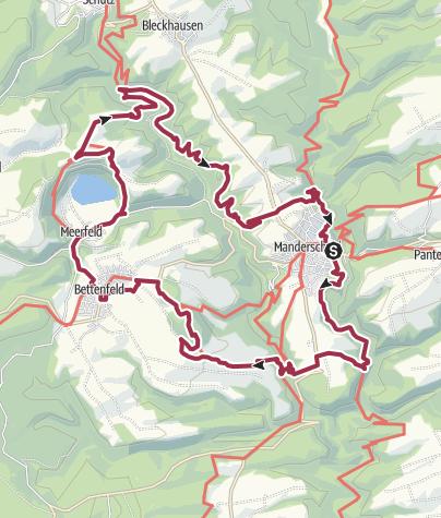 Karte / Vulkaneifel-Pfad: VulkaMaar-Pfad (2-Tages-Tour): Manderscheid-Meerfeld-Manderscheid