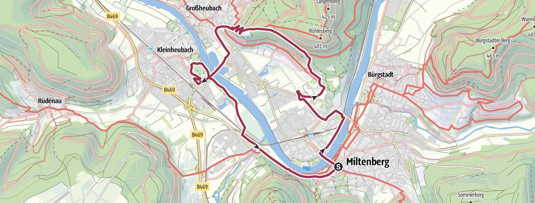 Karte / Miltenberg - Engelberg - Schloss Kleinheubach - Runde