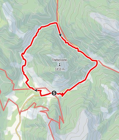 Karte / Triebenstein Umrundung