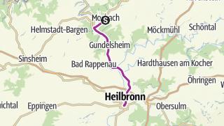 Karte / Mobil ohne Auto - Auf der B27 zwischen Mosbach und Heilbronn