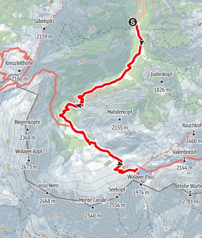 Karte / Wolayersee