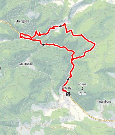 Karte / Kettenluss-Strecke