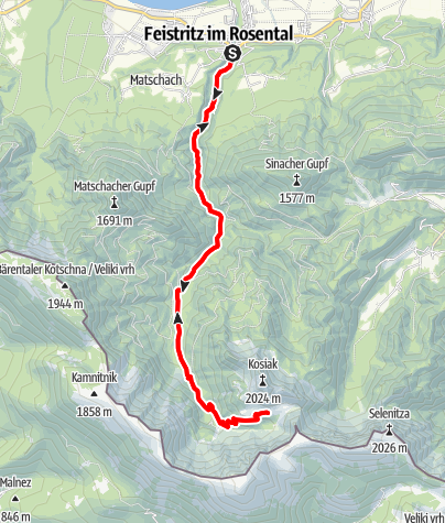 Karte / Mountainbiketour Klagenfurter Hütte