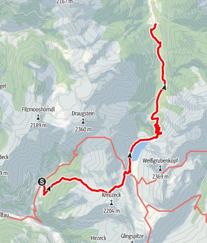Karte / Hüttschlag - Tappenkarsee - Jägersee