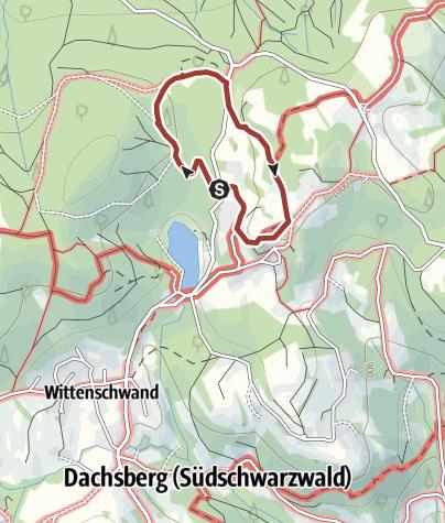 """Karte / Dachsberg: """"Rund um das Horbacher Moor""""  (Naturlehrpfad)"""