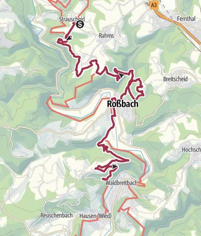 Map / Westerwald-Steig Stage 15: Strauscheid - Waldbreitbach (East - West)