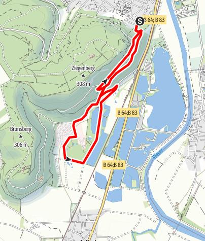 Kaart / Nordic Walking in Höxter – Route 4 (mittel)