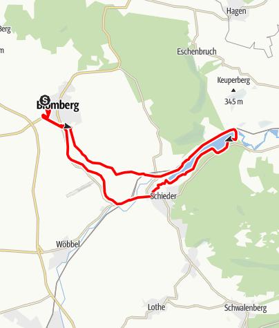 Karte / Radtour um den Schiedersee