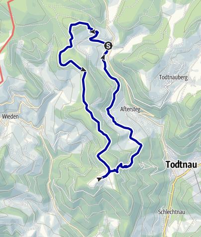 Karte / Übers Köpfle und Knöpflesbrunnen