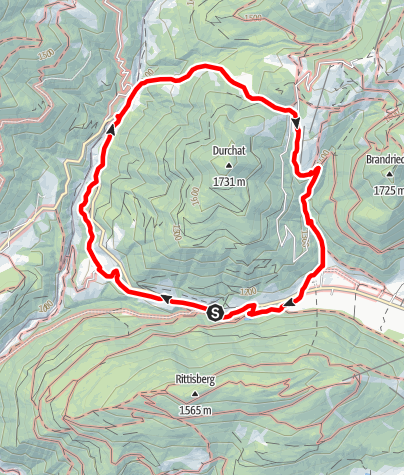Karte / Dureggrundweg