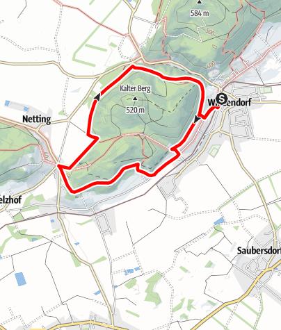 Mapa / Winzendorf Rundwanderweg C, Dachensteinrunde (Schloßberg, Kalten Berg, Mitterberg)