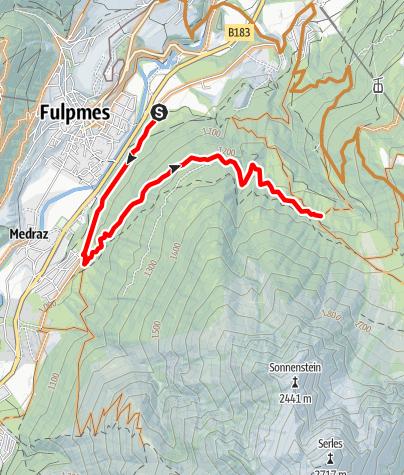 Karte / Stubai Bike Challenge - Sonnensteinrennen