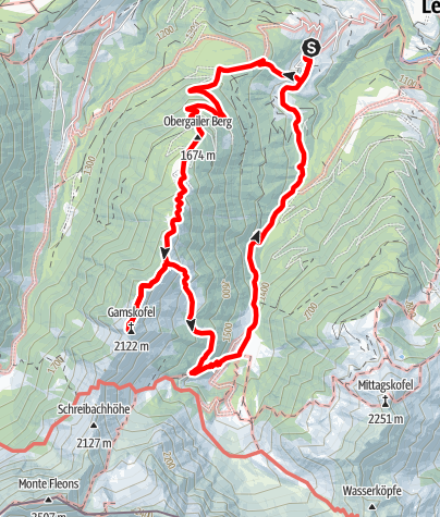 Karte / Gamskofel - Obergailer Alm