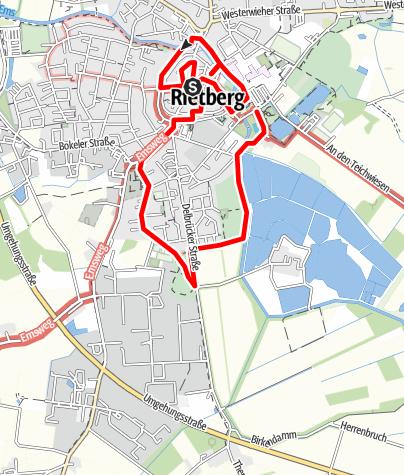 Karte / Rundgang durch den Historischen Stadtkern - Stadt der schönen Giebel