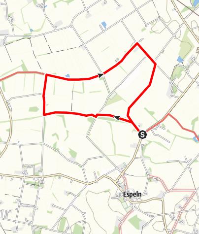 Karte / Rundwanderweg A4 - Ems / Furlbach (5 km)