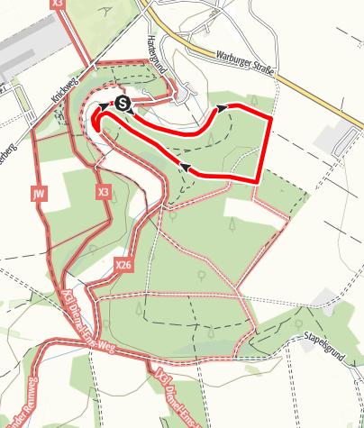 Karte / Geocaching-Lehrpfad Paderborn