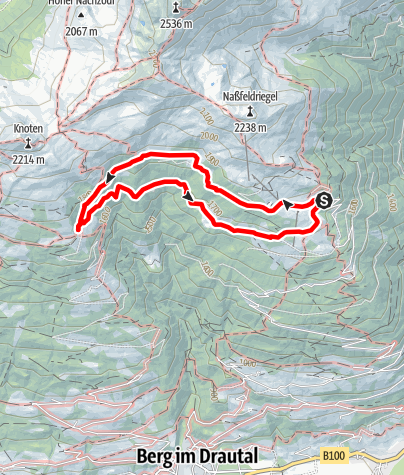 Karte / Panoramawanderung Oberberger Alm