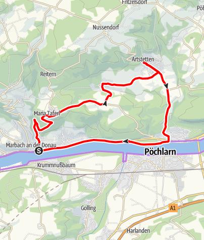 Karte / Rundtour 03 - Artstetten