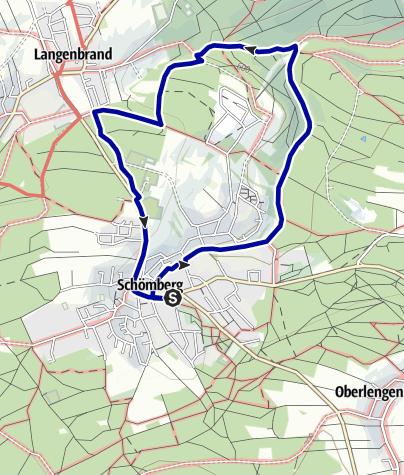 Karte / 2 Eulenbächle-Wanderung, Wanderglück Schömberg