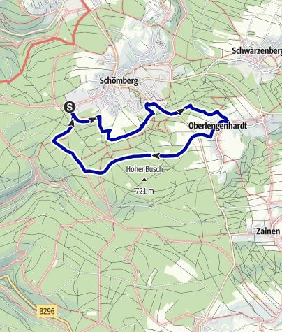 Karte / 6 Zollernblick-Tour, Wanderglück Schömberg