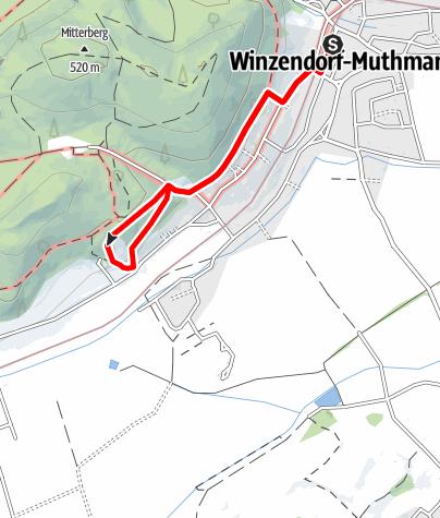 Karte / Winzendorf Rundwanderweg 2, Rund um den Blosen Berg