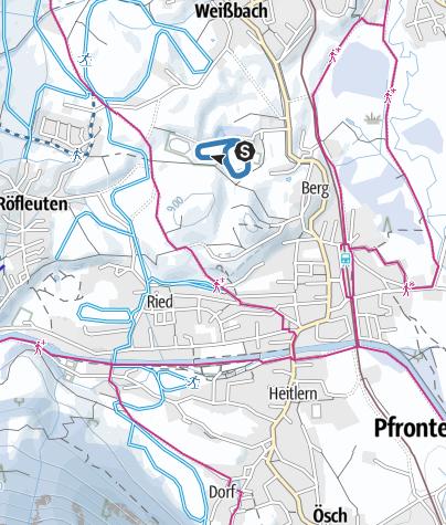 Karte / Nachtloipe - Skating-Rundkurs TSV