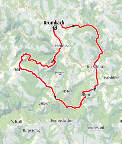 Mapa / Steinkreis-Strecke